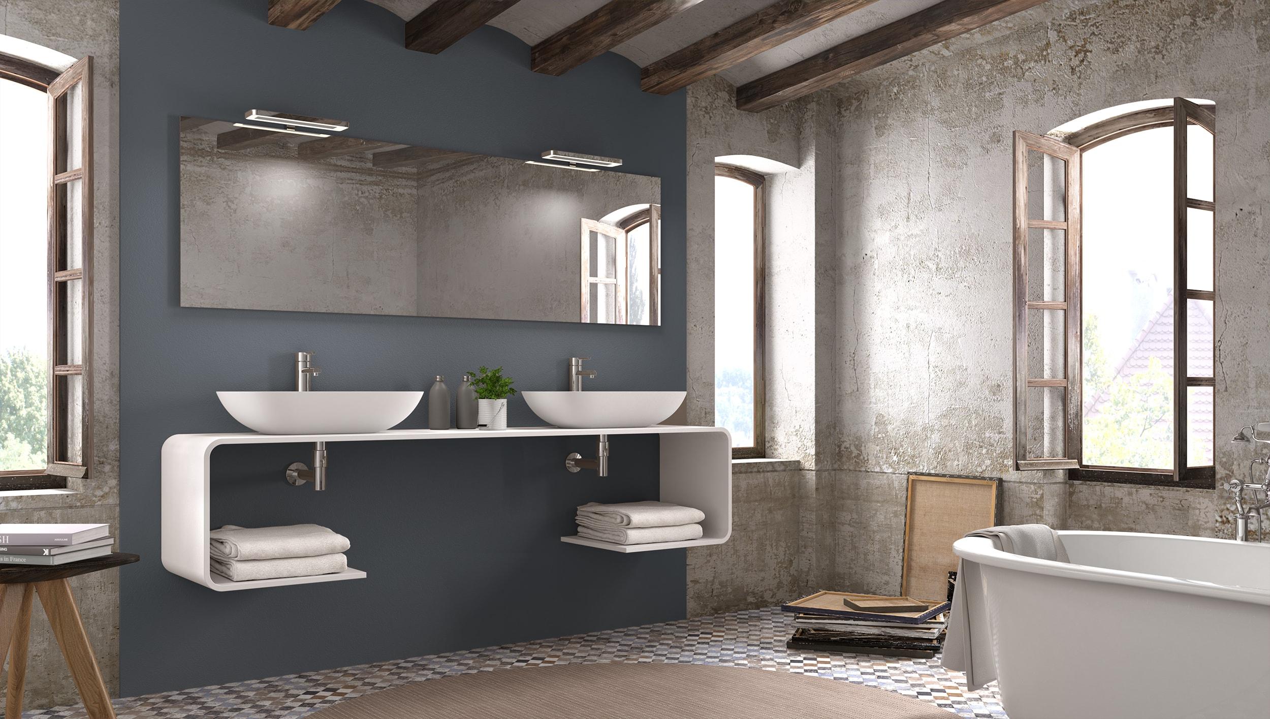 Muebles de baño en 3D